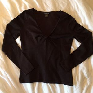 Brown scoop neck sweater. Like new.
